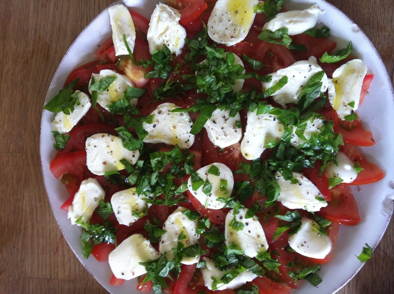 Tomato and boconccini salad
