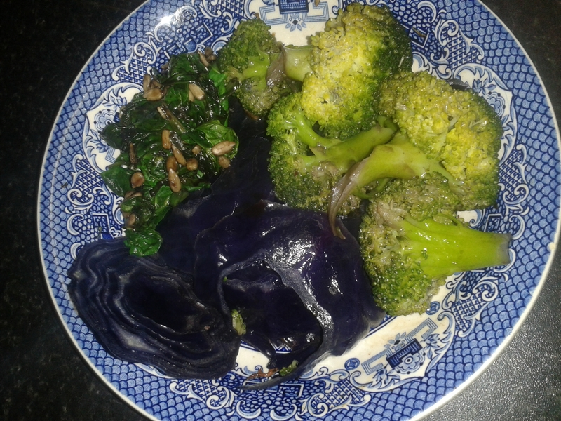 Purple and Green side dish