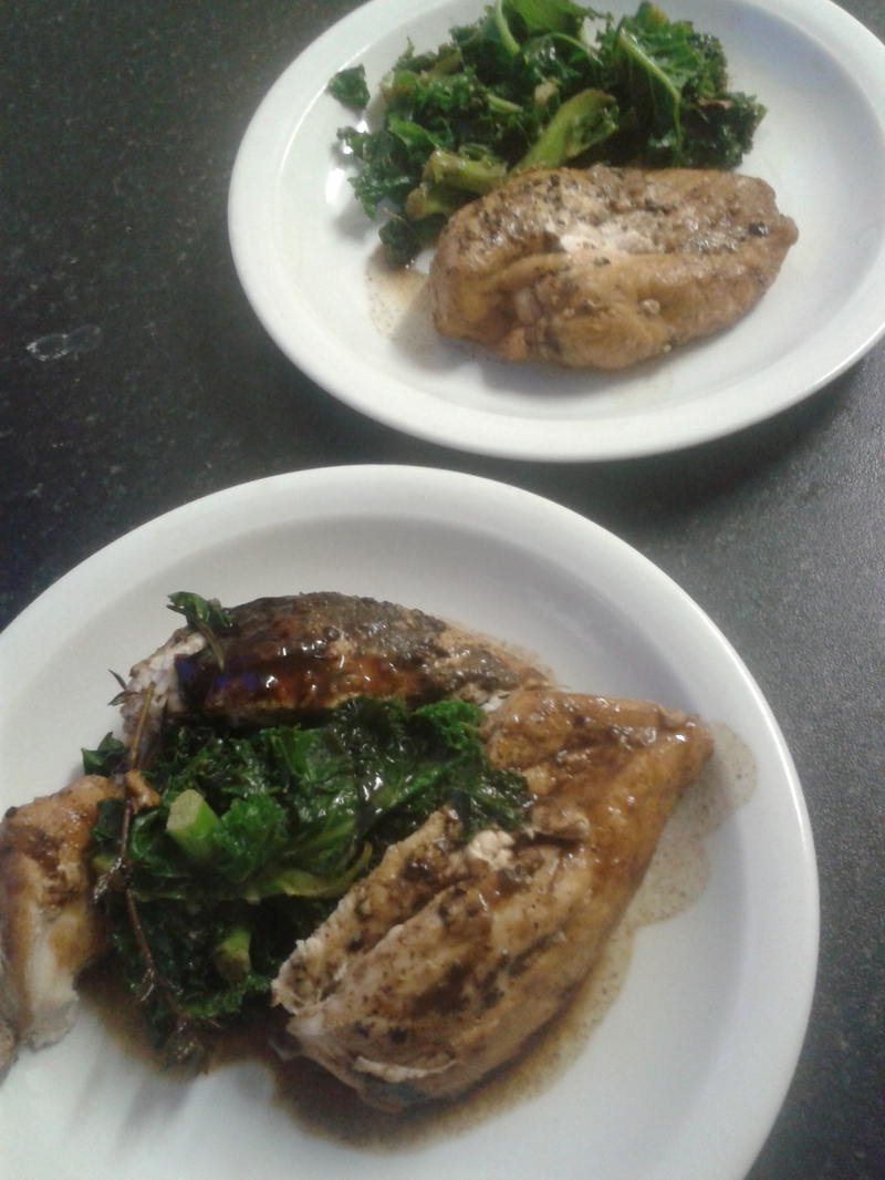 Balsamic chicken and kale
