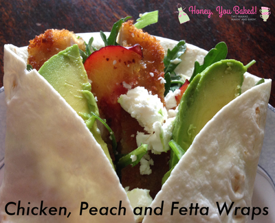 Chicken, Peach & Fetta Wraps