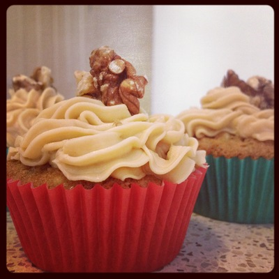 Coffee & walnut cupcakes!