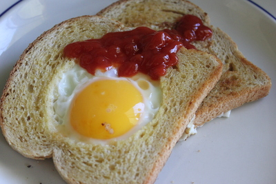 Eggs in toast