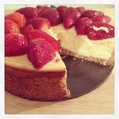 Strawberry cheesecake!