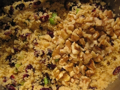 adding,cous,cous,to,bacon,craisins