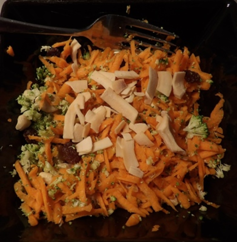 carrot,salad,ready,to,eat  - Carrot And Shaved Broccoli Salad