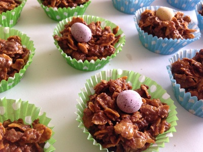 Chocolate cornflake crispy recipe, chocolate cornflake crispies, cornflake crispy cake, how to make chocolate cornflake nests