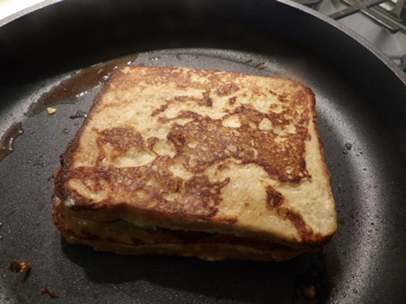 cooked,cheese,and,bacon,french,toast