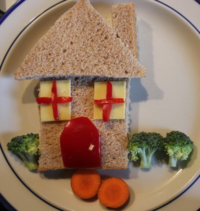 Edible House, fun recipes for kids, lunch fun