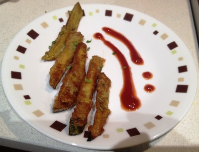 Eggplant and egg fingers