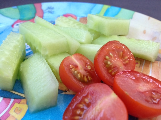 Finger Food Baby Led Weaning Tomato Cucumber