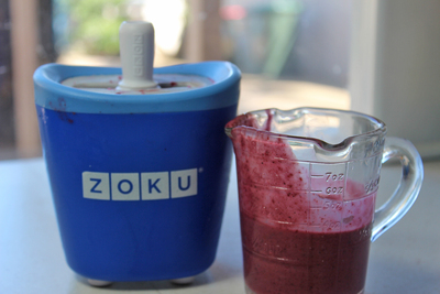 mixed berry pops, berry ice blocks, berry ice cream, zuko quick pop maker, food for kids, summer recipes